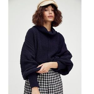 NWT Free People Be Yours Black Pullover Sweater